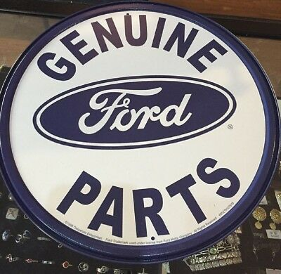 Ford Genuine Parts Metal Sign 11.75 Diameter Round  USA Made
