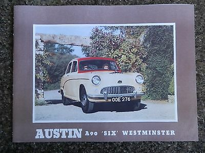1954 Austin A90 ''six'' Westminster Sales Brochure 100% Guarantee.
