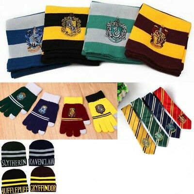 Harry Potter Cosplay Sciarpa Cappello Guanti Touch Cravatte Cap Gloves Scarf Tie