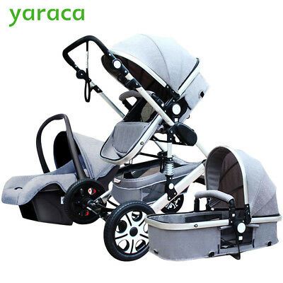 BABY STROLLER 3 in 1 with Car Seat For Newborns Folding Baby ...