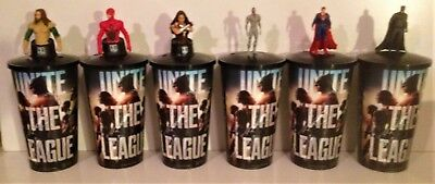 DC Comics: Justice League Movie Theater Exclusive Cup Topper Set With 44 oz Cups