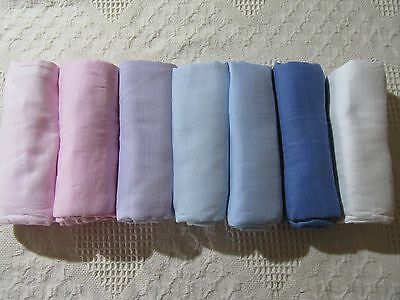 2 Baby Muslin Wraps Cotton 120Cm X 120Cm