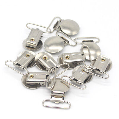 10Pcs Suspender Soother Pacifier Holder Clip Baby Pacifiers Chain Accessories