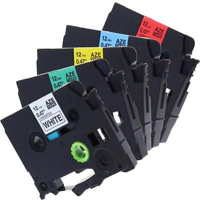 TZ-231 TZ-431 TZ-531 TZ-631 TZ-731 Compatible for Brother Label Tape 12mm 8m 5pk