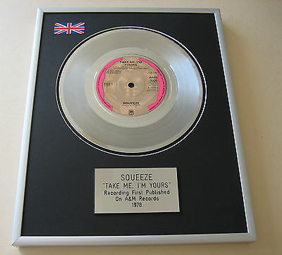 SQUEEZE Take Me, I'm Yours PLATINUM SINGLE DISC PRESENTATION