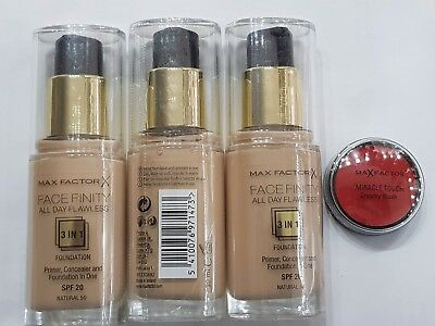Max Factor   Natural 50 30ml Alle 3 stück für 11,99 plus Mirace touch Greamy