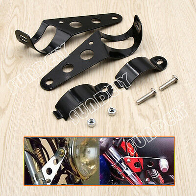 2X Motorcycle Motorbike Headlight Headlamp Brackets Fits 31-42mm Fork Stanchions