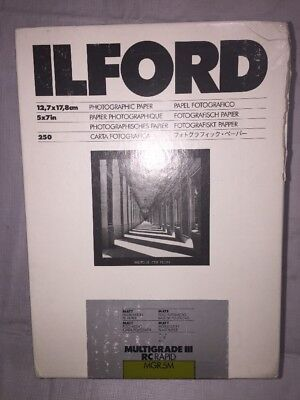 Ilford Multigrade IIi RC Rapid Matt 5x7 250 Sheets MGR.5M Free Shipping