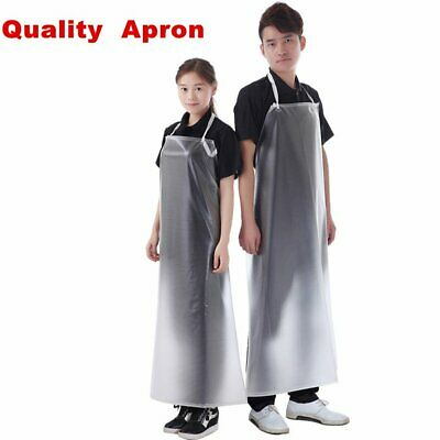 2x Waterproof Clear PVC Apron For Kitchen Housework Restaurant Garden Butcher