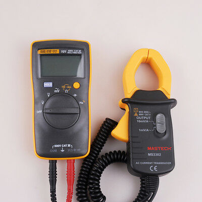 Mini Fluke 101 Digital Multimeter +Clamp Meter AC 0.1A-400A  MS3302