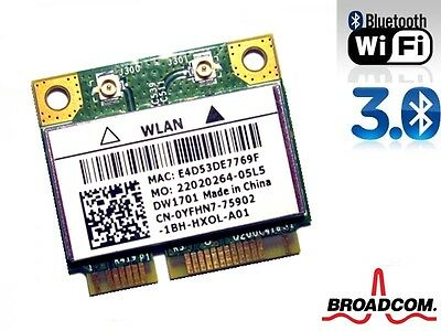 + Broadcom BCM94313HMGB DW1701 802.11 b/g/n WLAN+Bluetooth Mini PCI Express +