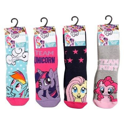 MY LITTLE PONY GIRLS GRIPPER SLIPPER SOCKS NON SLIP SKID KIDS UK Size 6 -3.5