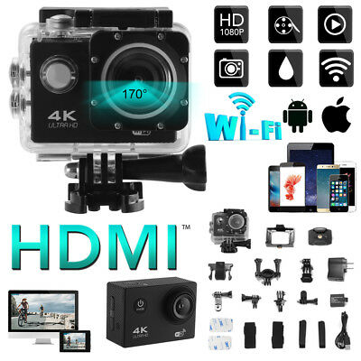 4K Ultra HDMI Waterproof Sports Camera 12MP WiFi Video DV Action for Gopro LF819