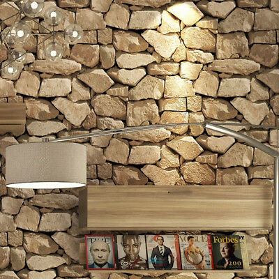 10M Retro 3D Stone Pattern Wallpaper Simulation Rock Featured Clothing Store Bar