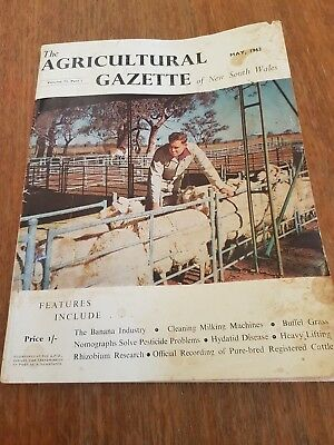 The Agricultural Gazette of NSW - May 1962. Vol 73 Part 5. Rare