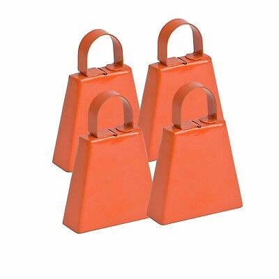 Orange Pain Post Box Cowbell Pack 4 [GoGo Bells]