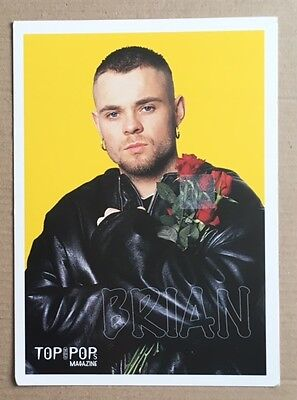 BRIAN HARVEY / EAST 17 Original Vintage Top of the Pops Magazine Postcard