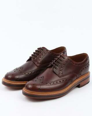 Grenson Gibson Brogues in Chestnut Brown - Archie dark brown 100% calf leather