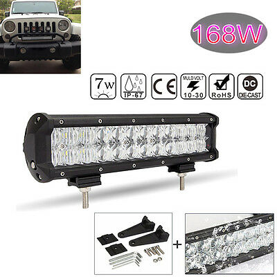 5D Lens 16800LM 168W 12Inch OSRAM Led Bar Car Work Light Offroad Combo Beam Lamp
