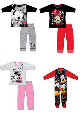 Official Girls Minnie Mouse Character Pyjama Set Pyjamas Pjs Nightwear Ages 4-10