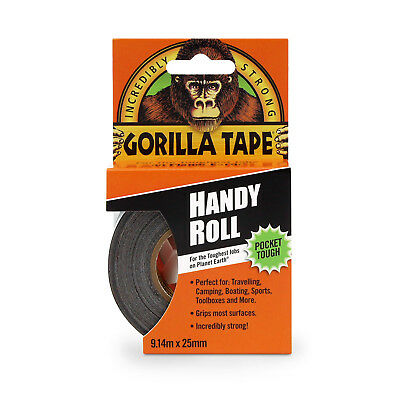 Gorilla Tape Handy Roll  Go Strong Duct tape by Gorilla Glue 9.14Mm x 25mm
