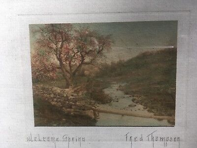 "RARE Fred Thompson litho ""WELCOME SPRING"""