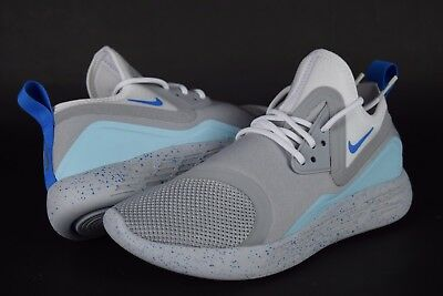 Nib Womens Nike Lunarcharge Bn Mag 933797 014 Sz 7 8 Wolf Grey Blue White Shoes