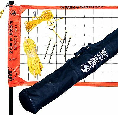 Volleyball Net System Portable Outdoor Beach Sports Game Play Training W Bag New