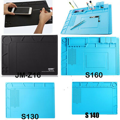 Desktop Heat Insulation Silicone Pad Soldering Working Mat For Phone PC Tablet