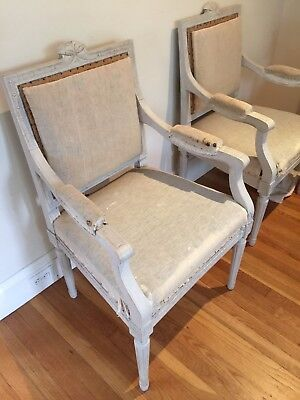Pair Of Gustavian Revival Arm Chairs