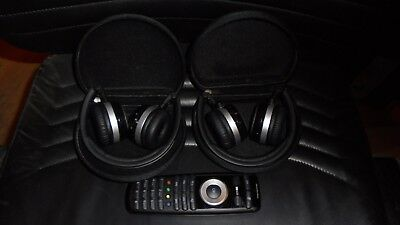 2014-2017 Mercedes Genuine Headphones (2) + Remote for GL GLE GLC ML E S Class