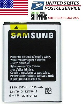 2 Pc Samsung EB494358VU EB-494358VU 1350mAh Galaxy Ace S5830 S5660 S5670 Battery