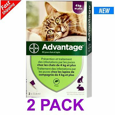 ADVANTAGE PURPLE for Cats Over 9 lbs (2-Pack) Fast Shipping EXP.DATE: 06/2022