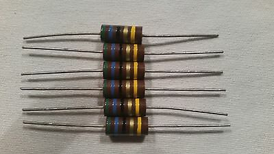 NOS 56 OHM  2 watt 5% Carbon Comp Resistor LOT OF 6