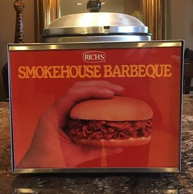 Vintage Star Manufacturing 3Wl Bqr Food Warmer Rich's Smoke House Barbeque