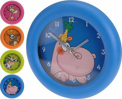 Cute Kids Childrens Play Room Character Bedroom Wall Clock 26 cm Tell The Time