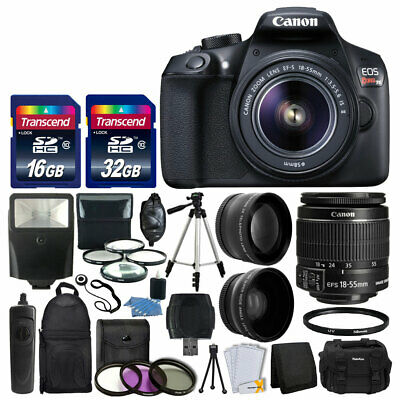 Canon EOS Rebel T6 DSLR Camera & 18-55mm Lens + 48GB Memory Card + Case + Remote