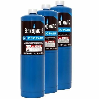 Bernzomatic Blue Propane Cylinder Torch Tank 3 Pack