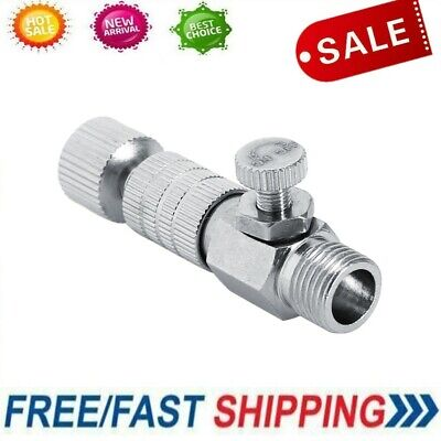 """1/8"""" Airbrush Fittings Quick Release Adapter Disconnect Coupler Adjustment Parts"""
