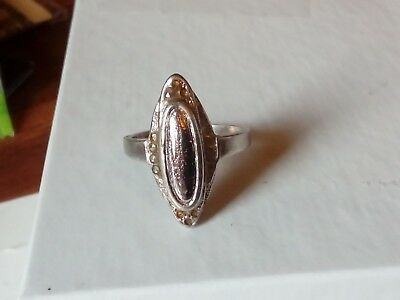Antique / Vintage Sterling Silver Victorian Ring Size 5.75, Stamped STERLING