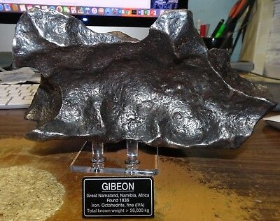 Beautiful Huge 5.810 Kgm Gibeon  Meteorite From Namibia  ;12.8 Pounds; Museum Gd