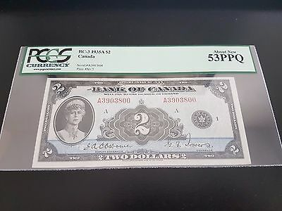 Rare STUNNING 1935 Bank of Canada $2 Bill Osborne | Towers in About New 53PPQ!!