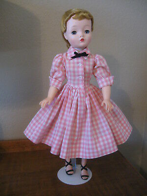 Tagged Pink & White Check Cissy Dress By Madame Alexander (No Doll)