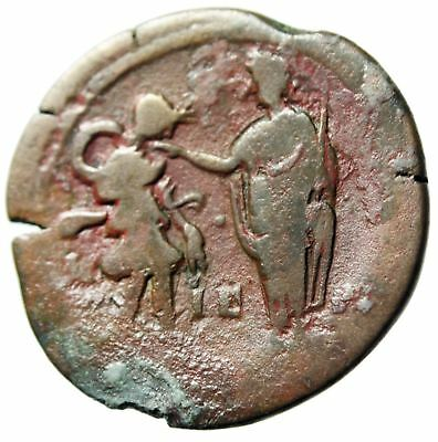 "Hadrian AE Drachm ""Emperor Greeted With a Kiss By Alexandria"" Egypt Year 15"