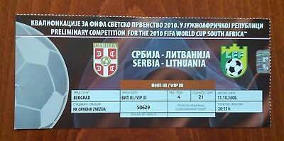Serbia - Lithuania - 11.10.2008 - WC Qualifier - VIP ticket