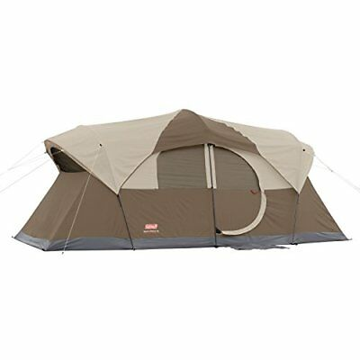 Coleman WeatherMaster 10 Person Tent Winter Outdoor Camping Cold Brown 17x9 New
