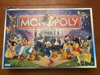 Disney Monopoly-2001-Complete in Box with all Pewter Pieces & Other Parts