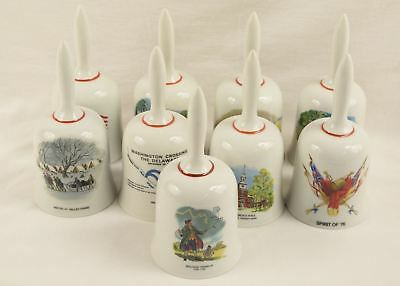 Lot of 9 Vintage Norman Rockwell Limited Edition American Bicentennial Bells