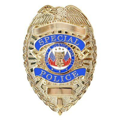 Special Police Gold Badge Novelty Shield Security Officer Agent Costume Party