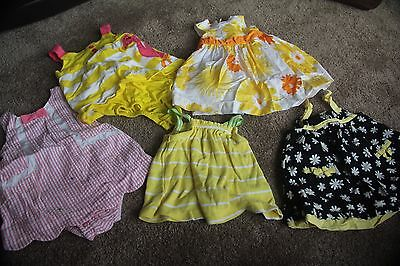 3 Month Girl Set/5 Clothing Outfit Dress Summer Spring Carters Gymboree Daisy